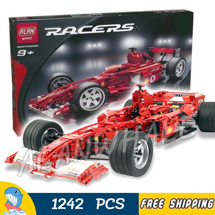 1242pcs Technic F1 Racer 1:8 Model Building Blocks minicar diecast cars automobile Boys Toys Compatible with Lego цена