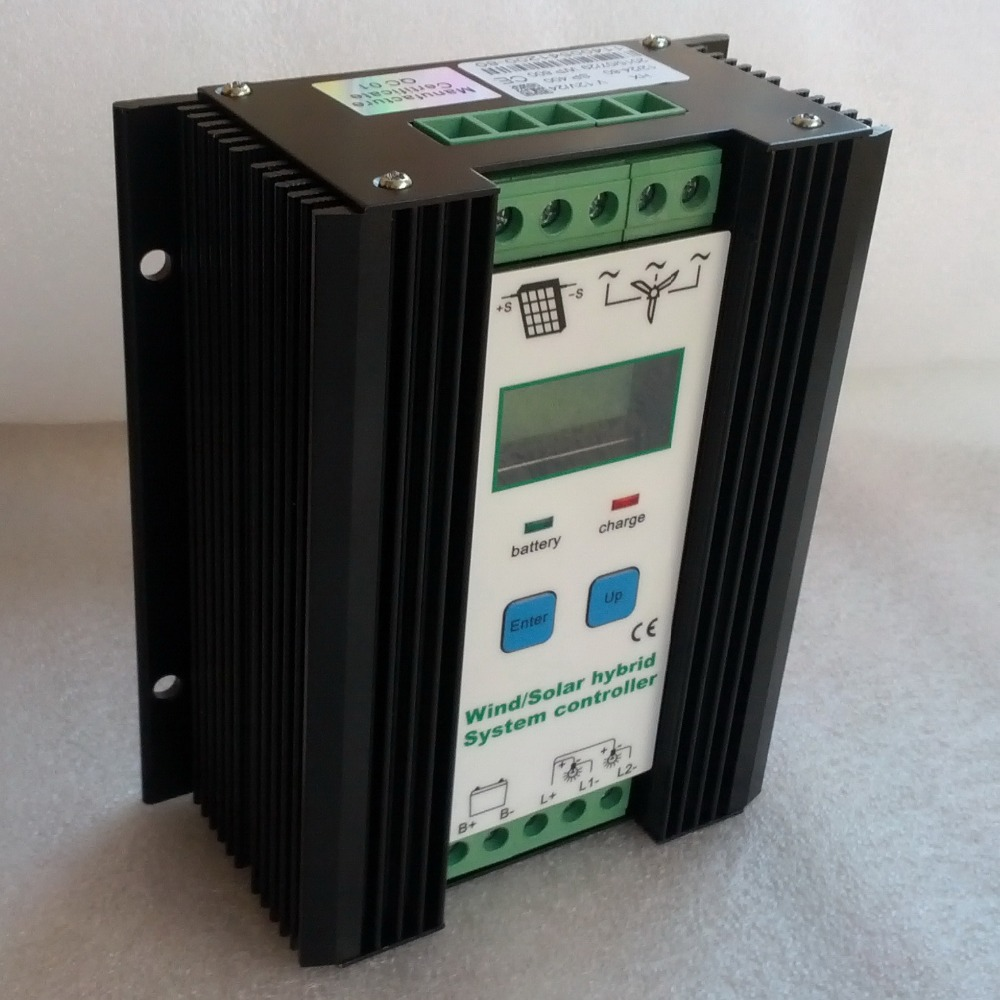 Boost MPPT Wind Solar Hybrid Charge Controller 12V/24V for 300W 400W 500W Wind Turbine Generator&300W PV solar panels controller 600w wind solar hybrid controller 400w wind turbine 200w solar panel charge controller 12v 24v auto with big lcd display