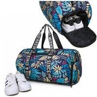 New Men Sport Gym Bag Lady Women Fitness Travel Handbag Outdoor Shoulder Bags with Separate Space For Shoes sac de sport
