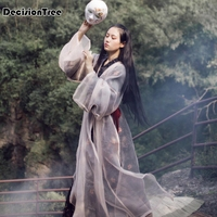 2019 summer high qualtiy princess queen royal ancient costume hanfu dress stage photography vintage chinese style women hanfu