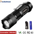 2000 Lumens Mini Torche Flashlight Led Linterna Potente CREE Q5 LED Gladiator Flashlight 3 Modes Zoomable LED Torch Penlight