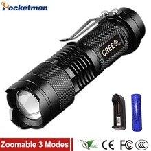 2000 Lumens Mini Torche Flashlight Led Linterna Potente CREE Q5 LED Gladiator Flashlight 3 Modes Zoomable LED Torch Penlight