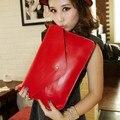 GUDANSEN Candy Color Women's Envelope Clutch Party Evening Bag Ladies Leather Handbags Shoulder Messenger Bags for Women Purse