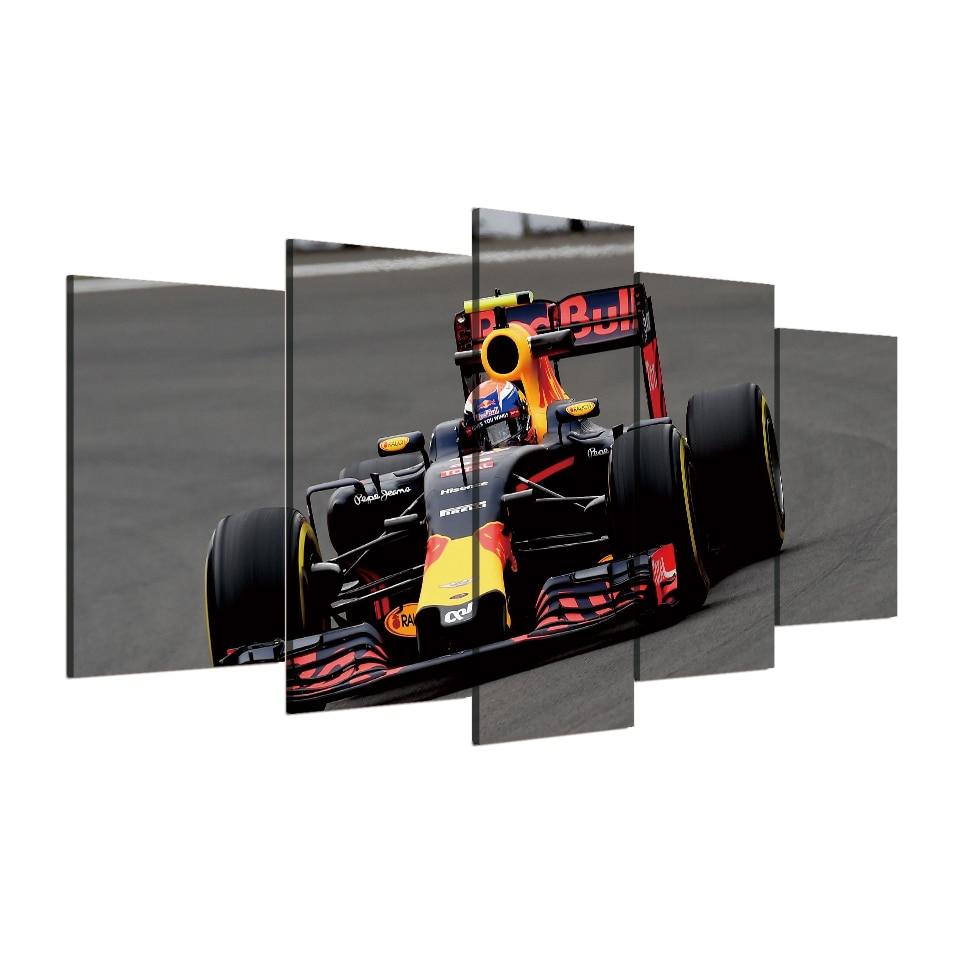 5D Full DIY 5 Panel 5d diamond painting Printed Racing Poster 5 Panel Sports Car Cool Race Cross Stitch Mosaic Rhinestone Decor