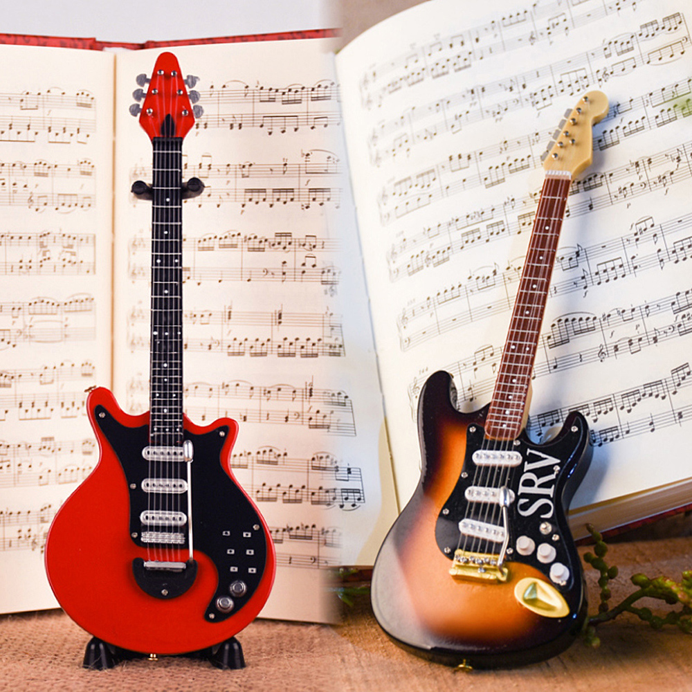 MoonEmbassy Electric Guitar Model Bass Miniature Display Realistic Music Lover Birthday Gift