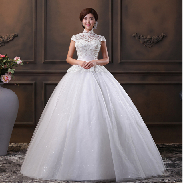 Wen Li 2014 new wedding dress Strapless mandarin collar Korean ...