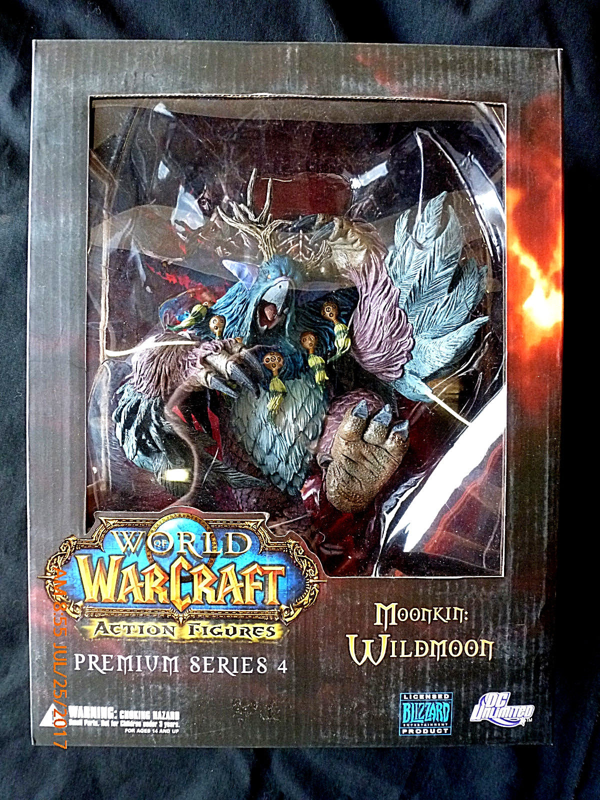 DC DIRECT WOW WORLD OF  MOONKIN WILDMOON ACTION FIGURE BOXSET! NEW! wow world of war rehgar orc dwarf warrior thargas anvilmar figure lot x2