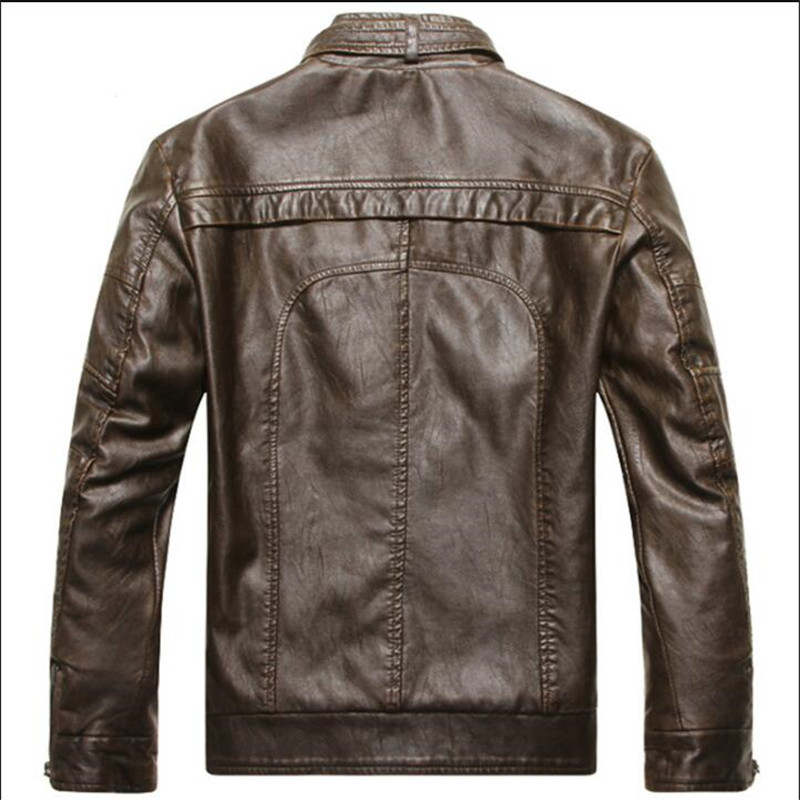 Asian size XS New Men s Short Leather Jackets Men Stand Collar Coats Male  Motorcycle Leather Jacket Solid Casual Brand Clothing -in Faux Leather  Coats from ... a044136c837