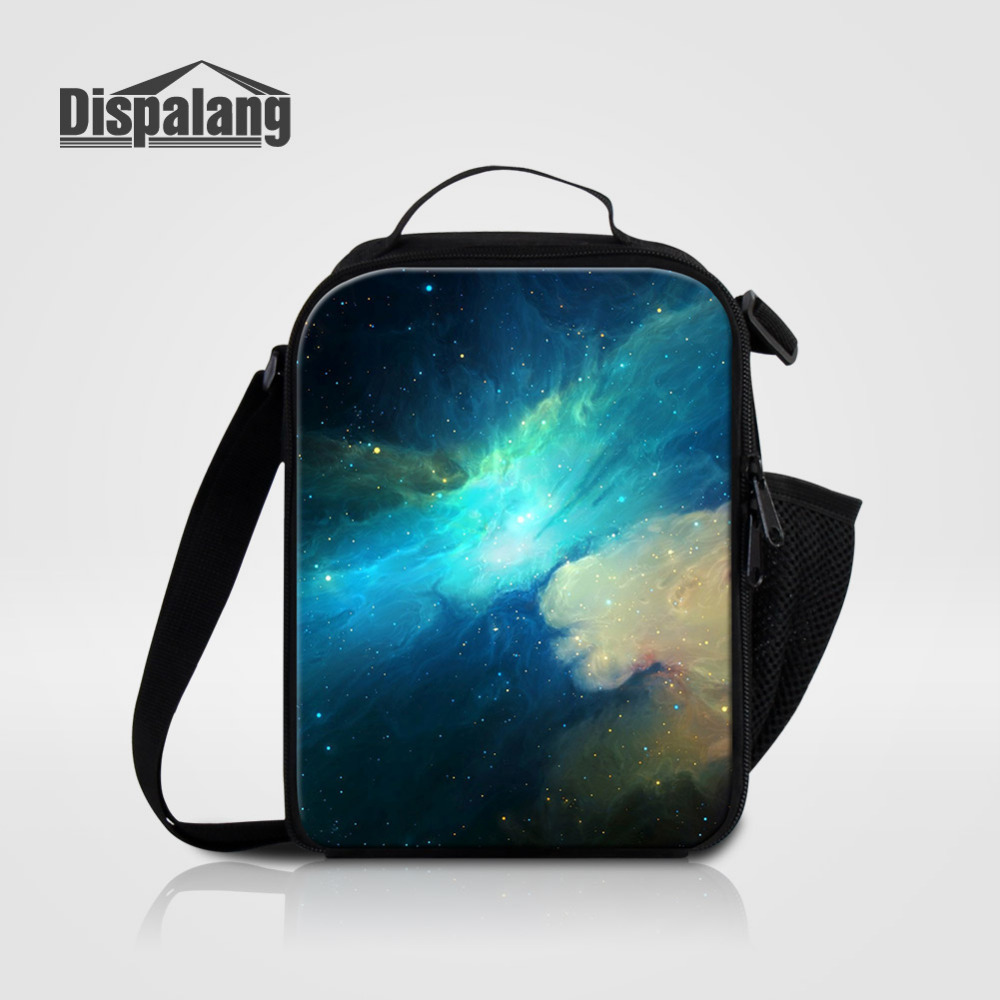 Dispalang Universe Galaxy Portable Kitchen Lunch Bag for Kids Picnic Bag Storage School Students Food Carry Bag Container