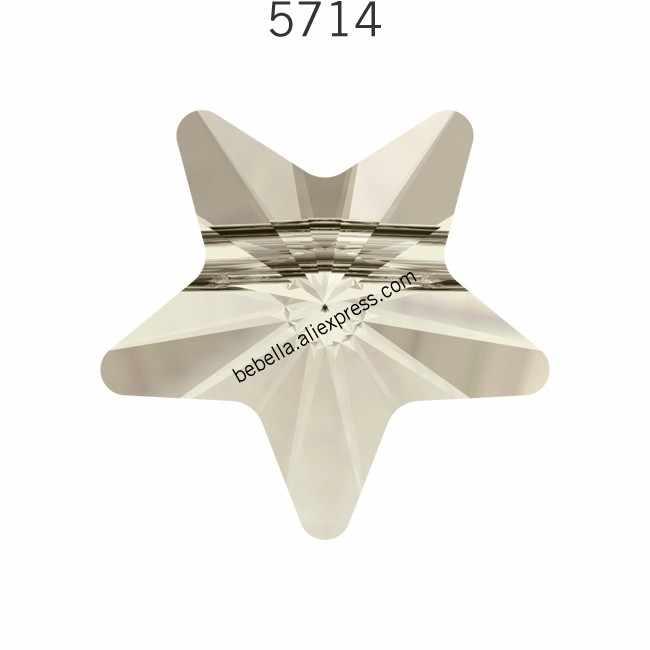 (1 pieza), cristal de Swarovski 100% Original, HECHO EN Austria de diamantes de imitación con cuentas de estrella 5714 para hacer pulseras DIY, fabricación de joyas