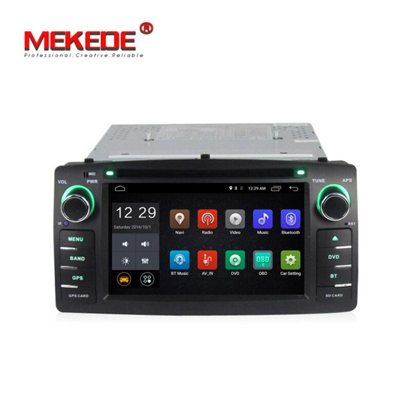 MEKEDE Pure Android 7.1 voiture lecteur multimédia autoradio Audio voiture lecteur DVD pour Toyota E120 BYD F3 support 4G wifi bluetooth