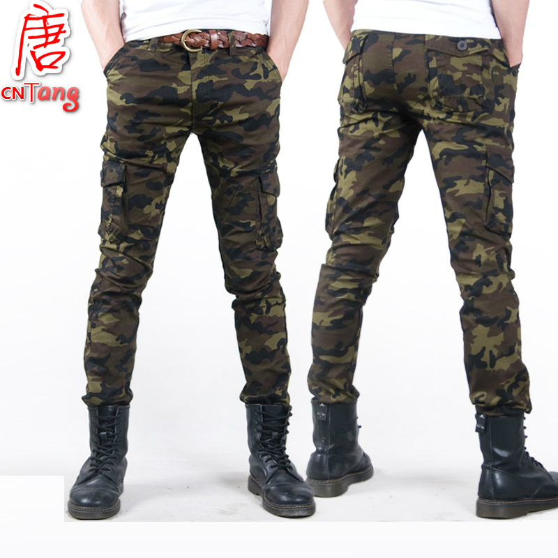 Fashion Camo Casual Military Male Trouser 2019 Thin Camouflage Men's Slim Spring Summer Combat Tactical Army Skinny Pencil Pant
