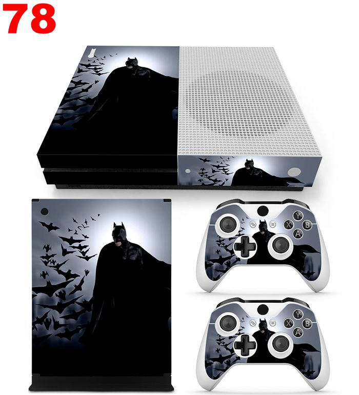 Vinyl sticker decal cover for Xbox one slim Games console stikcer + 2pcs controller skins Games accessories