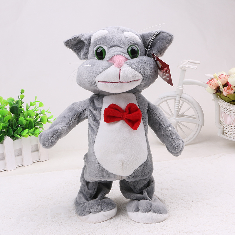 купить Robot Cat Sound Control Interactive Unicorn Electronic Toys Plush Pet Cat Toy Walk Talk Toys For Children Birthday Gifts недорого