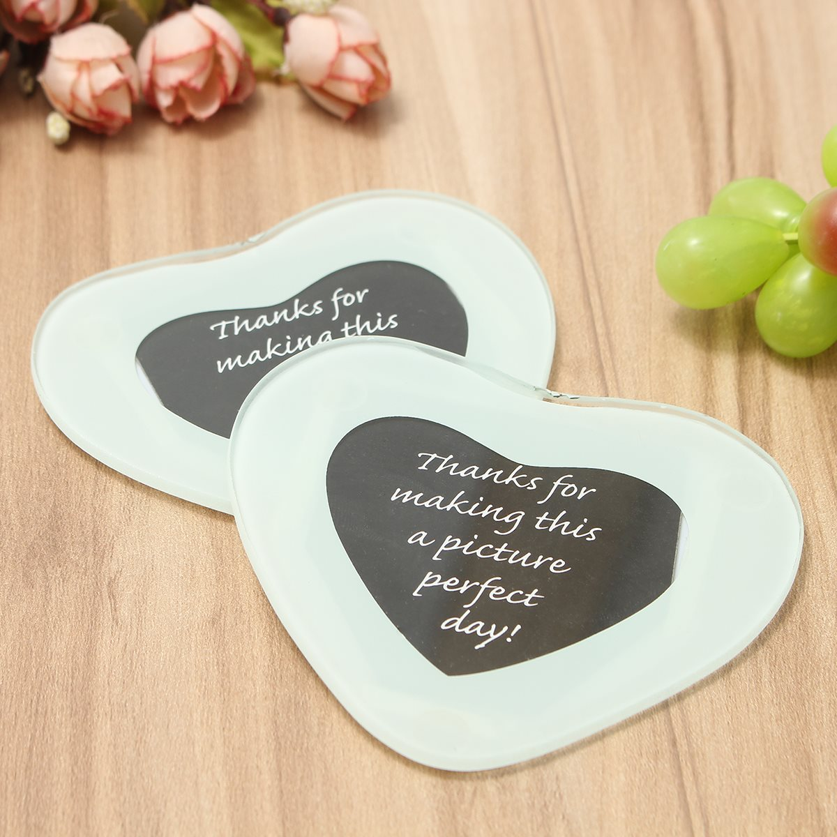 online get cheap mirror glass coasters aliexpresscom  alibaba group - love heart pcslot coasters cup mat mirrored glass tableware home coffeetable mug mat