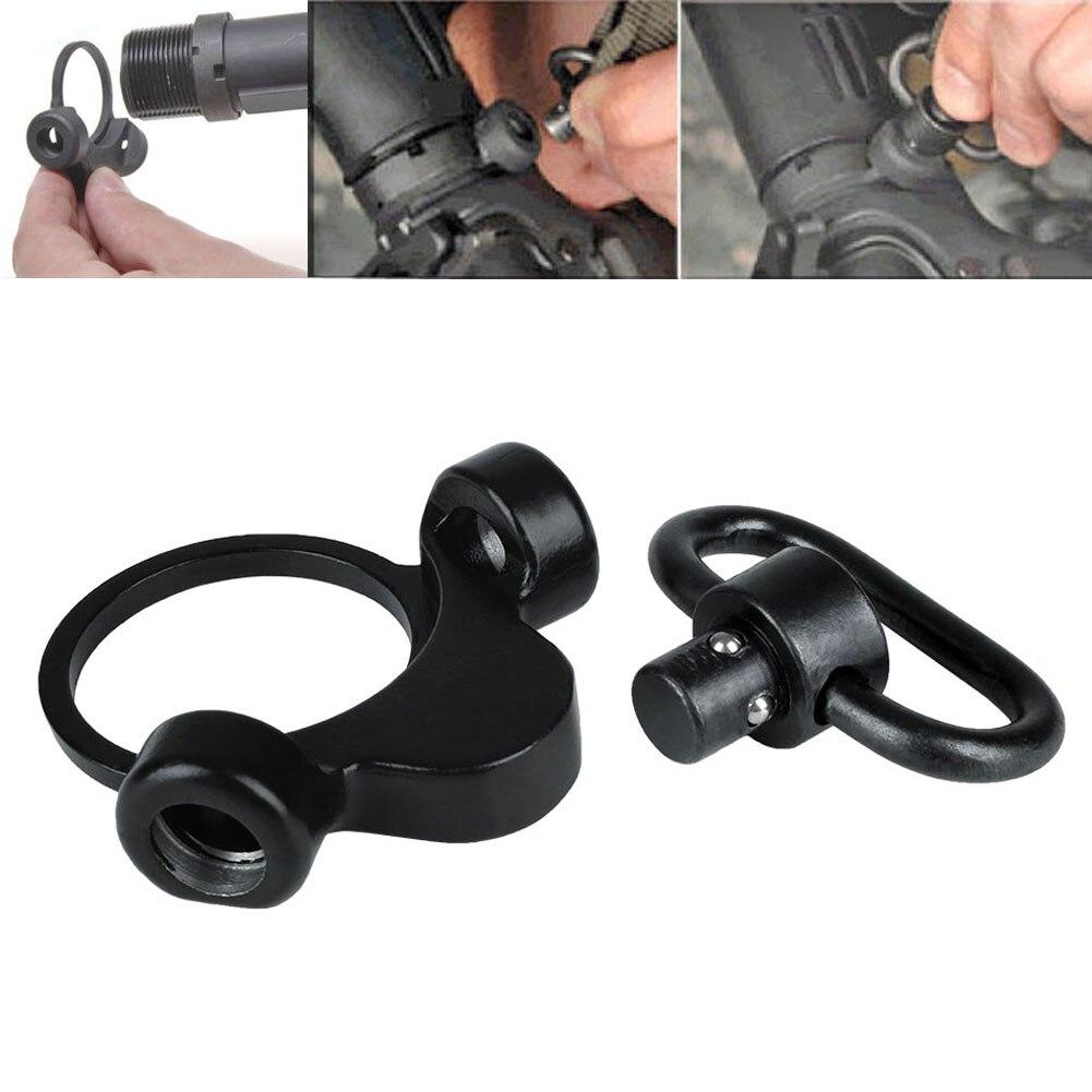 QD Sling Mount Adapter 2 Position Quick Detach Dual Loop End Plate Hunting universal steel sling mount adapter black