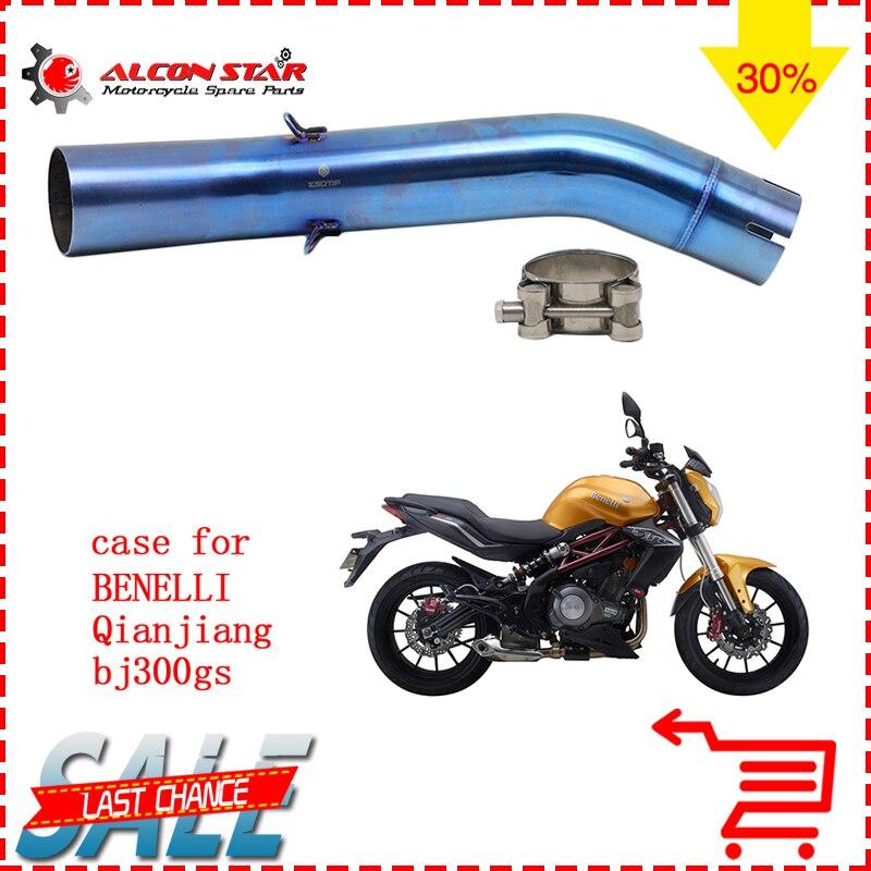 Alconstar-BJ300GS en acier inoxydable 51mm moto silencieux d'échappement tuyau moyen pour Benelli BJ300GS sans échappement