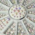 500 шт./компл. 3 размеры белый многоцветный акриловый блеск ногтей стразами декоративные 1ESG