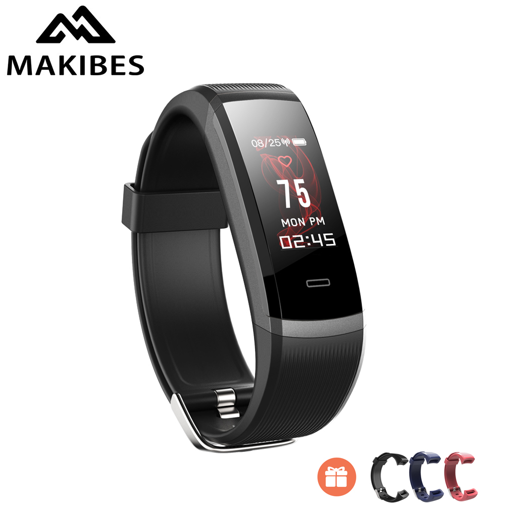 """Makibes HR3 Smart Wristbands Heart Rate Monitor Health IP68 Fitness Smartwatch 0.96"""" TFT Color Screen Continuous Call Reminder-in Smart Wristbands from Consumer Electronics    1"""