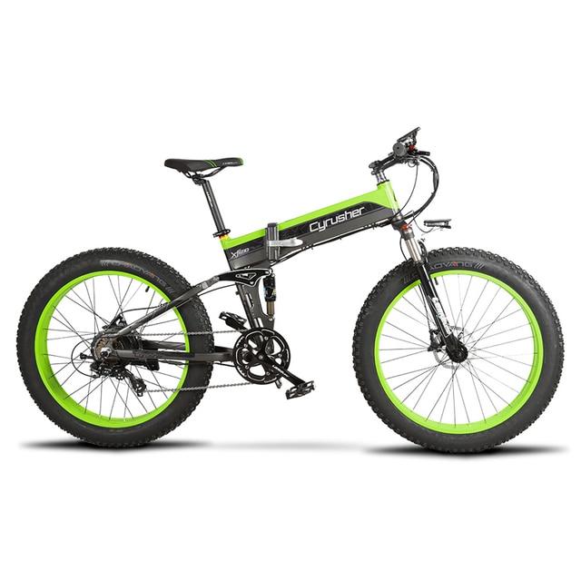 Cyrusher 500 W 48 V 10AH полностью подвесная рама Ebike XF690 Fat tire e-bike складной электрический велосипед с компьютерным спидометром