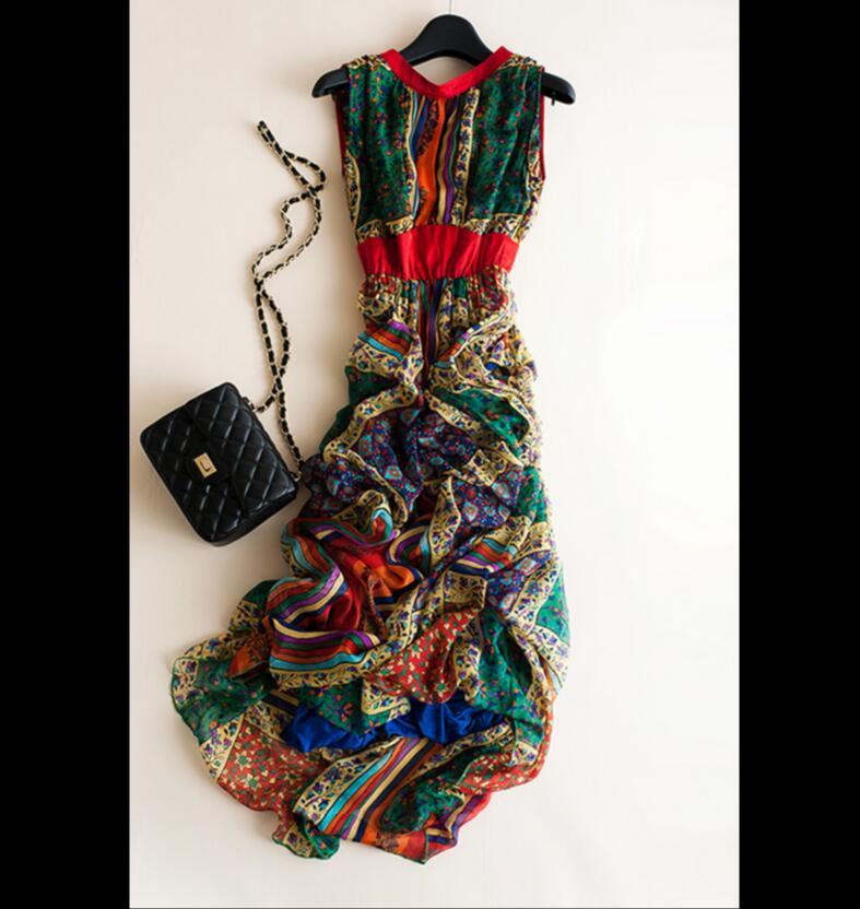 Женское платье с принтом Bogeda, повседневное длинное платье из натурального шелка с принтом, лето 2019 - 5
