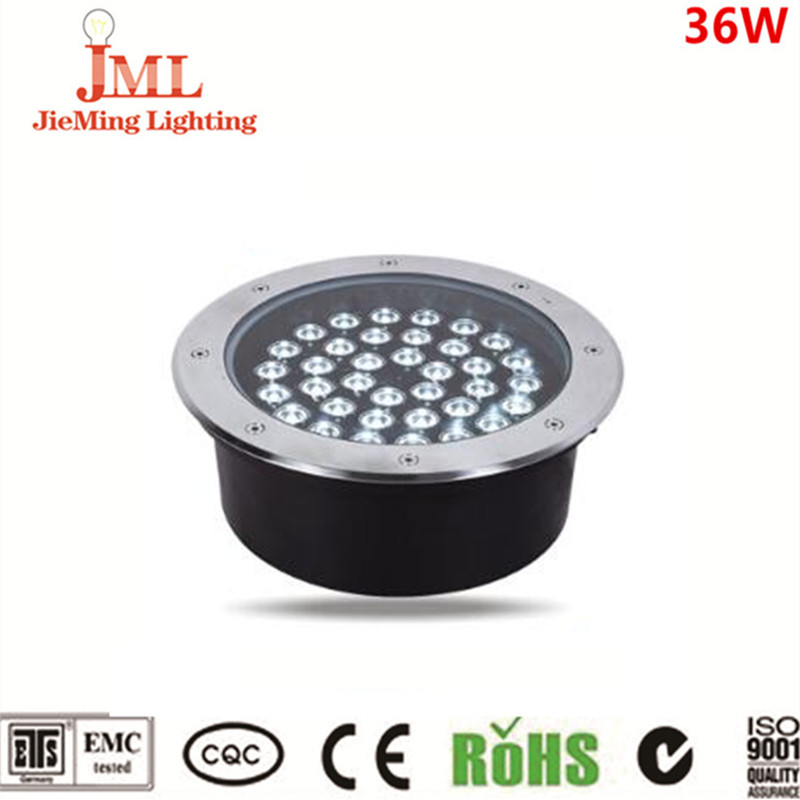 304 stainless steel IP67 waterproof underground light LED 36w rgb color floor light DMX 512 DC24V underground light LED truck led ramp 36w led light bar with ip67 waterproof rate