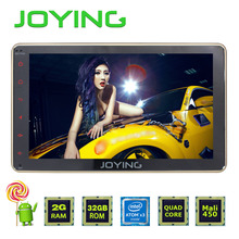 Joying Latest 2GB RAM double 2 din 8inch Android 5.1 luxury gold color kit Car Radio stereo HU Bluetooth steering-wheel GPS Navi