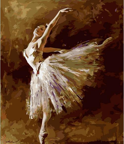 40x50cm Bez rámečku digitální olejomalba podle čísel diy domácí dekorace řemeslo jedinečný dárek obrázek barva na plátně Baletní tanečník