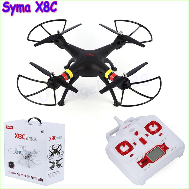 Original SYMA X8C X8 2.4G 6 CANALES 6axis Drone RC Quadcopter Con Cámara de 2MP HD Gran Angular Profesional A Distancia Helicóptero de Control