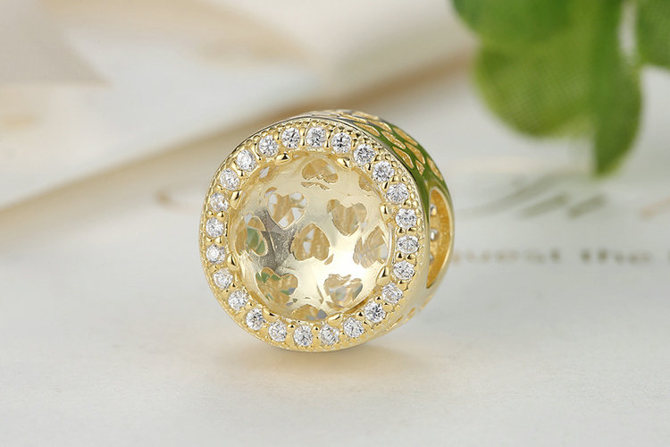 100 Real 925 Sterling Silver 10 Colors Crystal Radiant