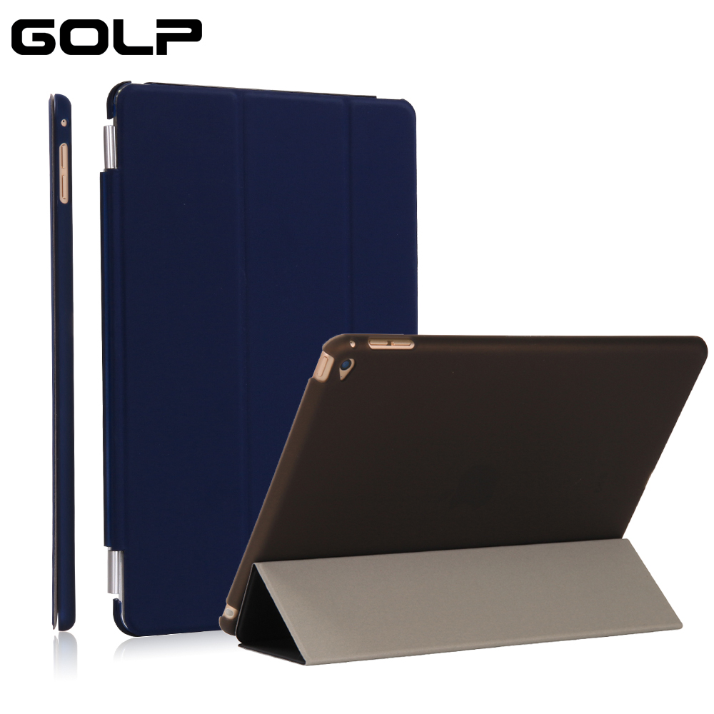 case for ipad air 2,GOLP smart cover for ipad air 2 PU front cover + PC back transparent ...