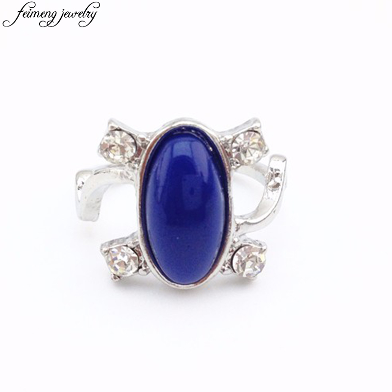 The Vampire Diaries Ring Elena s Daylight Sun Protection Ring Classic Design Blue Stone Ring For