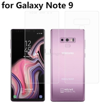 Ultra Clear HD Full Coverage Anti-Bubble Silicone TPU Film Screen Protector Optional Back Cover for Samsung Galaxy Note 9 6.4 2pcs anti scratch soft tpu ultra hd clear protective film guard for samsung gear fit 2 pro fit2 pro full screen protector cover