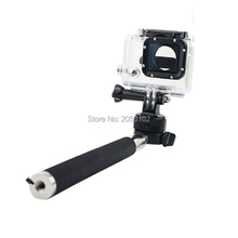 Gopro Monopod Telescopic Extendable Handheld Pole Tripod Adapter Mount For Gopro Hero 4 3 Xiaomi Yi SJCAM SJ4000 Action Camera