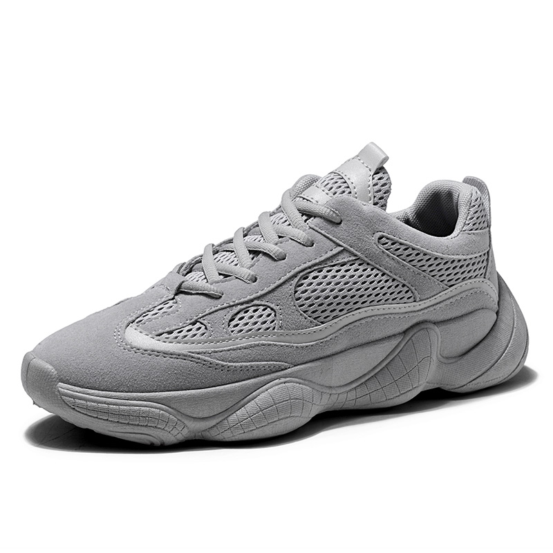 Spring Autumn New Shoes Men Mesh Breathable Sneaker Fashion Mens Casual Shoes Leisure All match Gray Black Shoes DA098 in Men 39 s Casual Shoes from Shoes