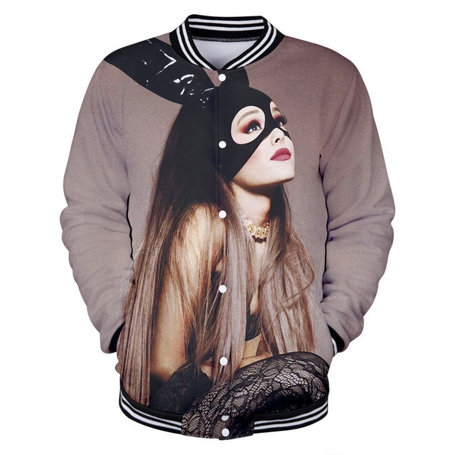 ARIANA GRANDE THEMED 3D BASEBALL JACKET (10 VARIAN)