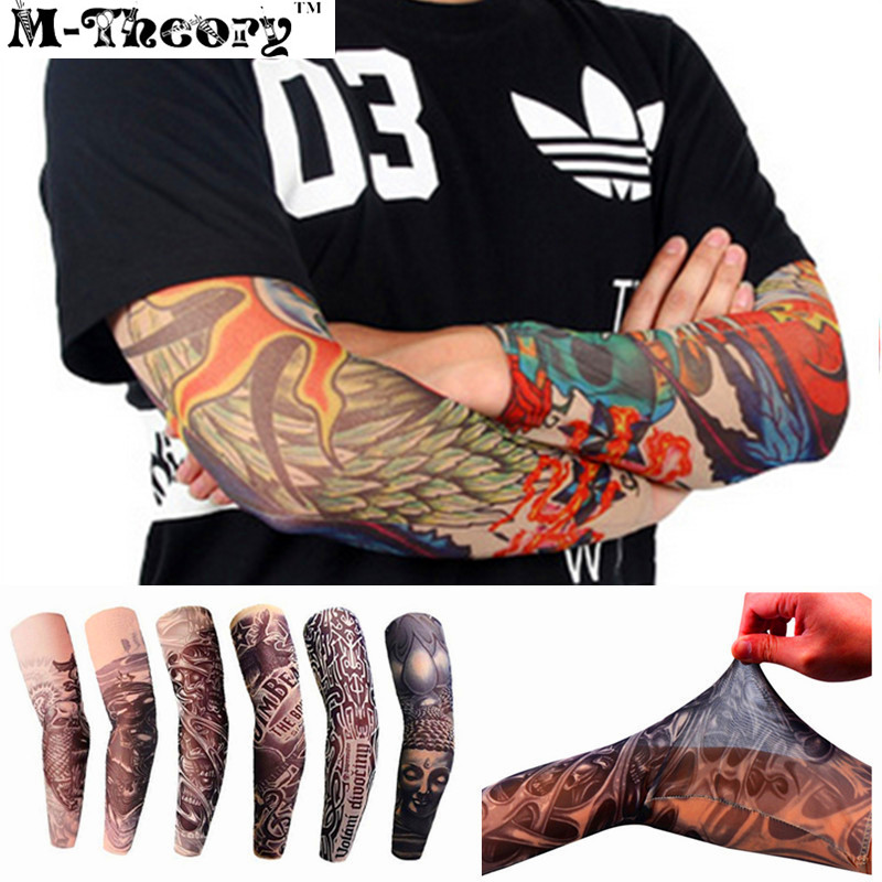 3D Arm Tattoos Sleeve Elastic Stockings Leggings Temporary Body Makeup 3d Tatuagem Henna Flash Tatoos Tatto Body Arts