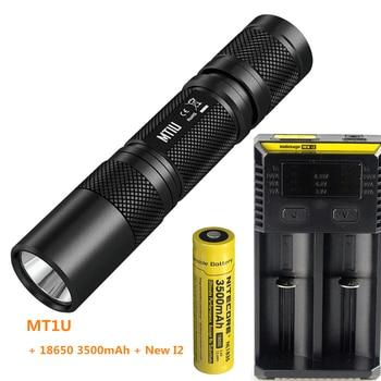 NITECORE MT1U UV ltravioleta 365nm linterna LED Anti-Falso cheque dinero, joyería, billete, fluorescencia por batería 18650