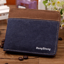 Wallets For Man High Quality Men Hasp Wallet Canvas Purse Big Capacity Credit Crad Holders Multifunction