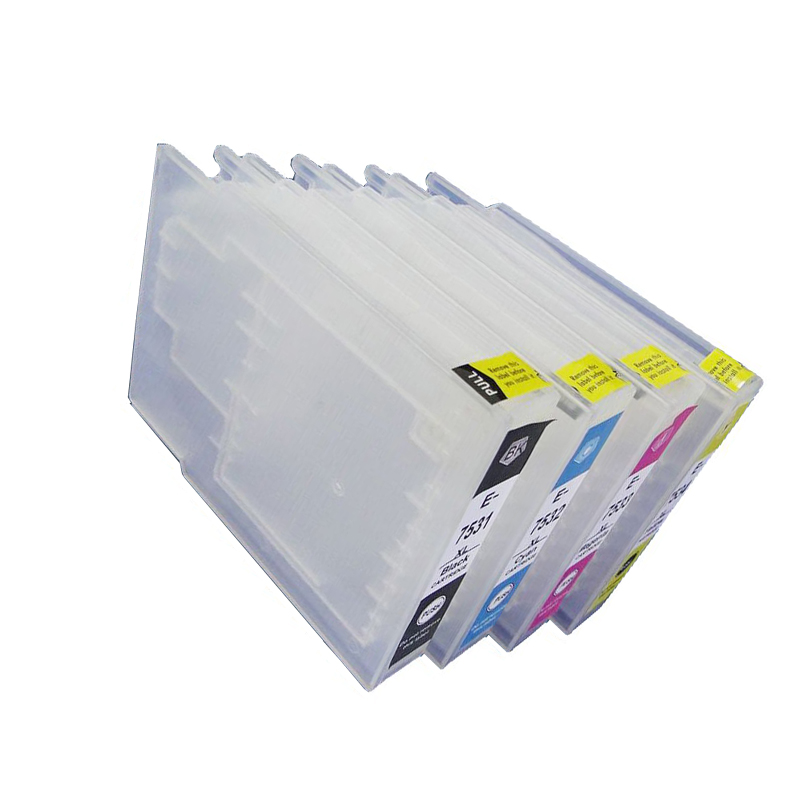 T7551 T7552 T7553 T7554 Cartuccia di Inchiostro Riutilizzabile Vuota Per Epson Workforce WF 8010 DW 8090 DW 8510 DW 8590 DW stampante con chip