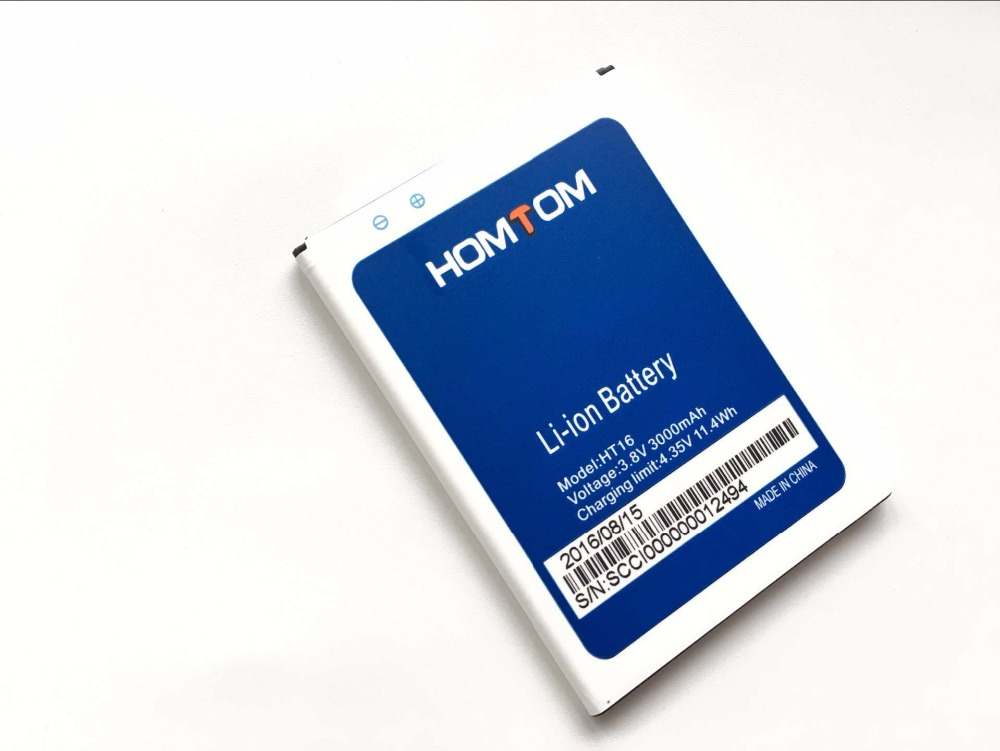 HOMTOM HT16 Battery100 Original Large Capacity 3000mAh Backup Batteries Replacement For HOMTOM HT16 Pro Smart Phone