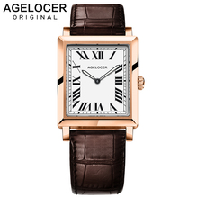 שוויצרי יוקרה מותג Agelocer שעונים נשים קוורץ שעון נשי שעון Slim רומי ספרות גבירותיי שעוני יד עם אריזת מתנה