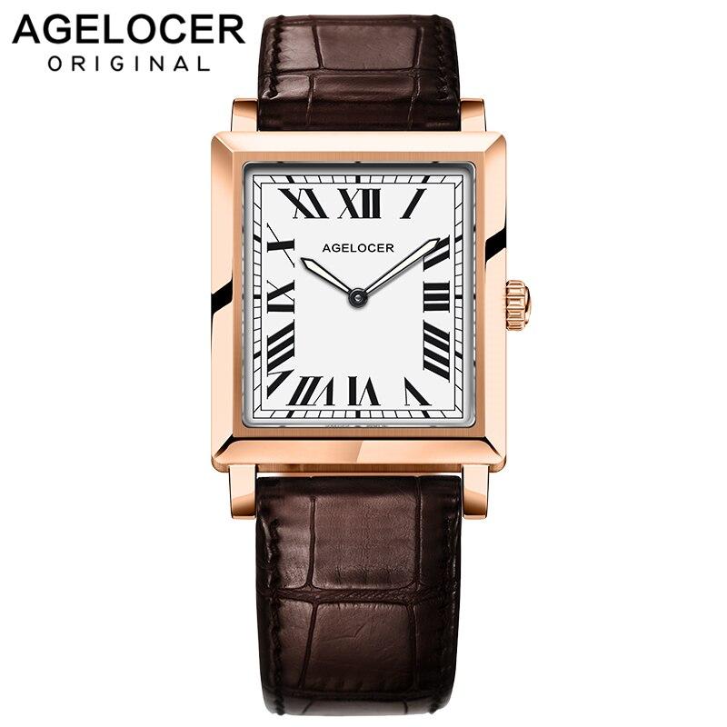 Marque de luxe suisse Agelocer montres femmes montre à Quartz femme horloge mince chiffres romains dames montres avec boîte-cadeau