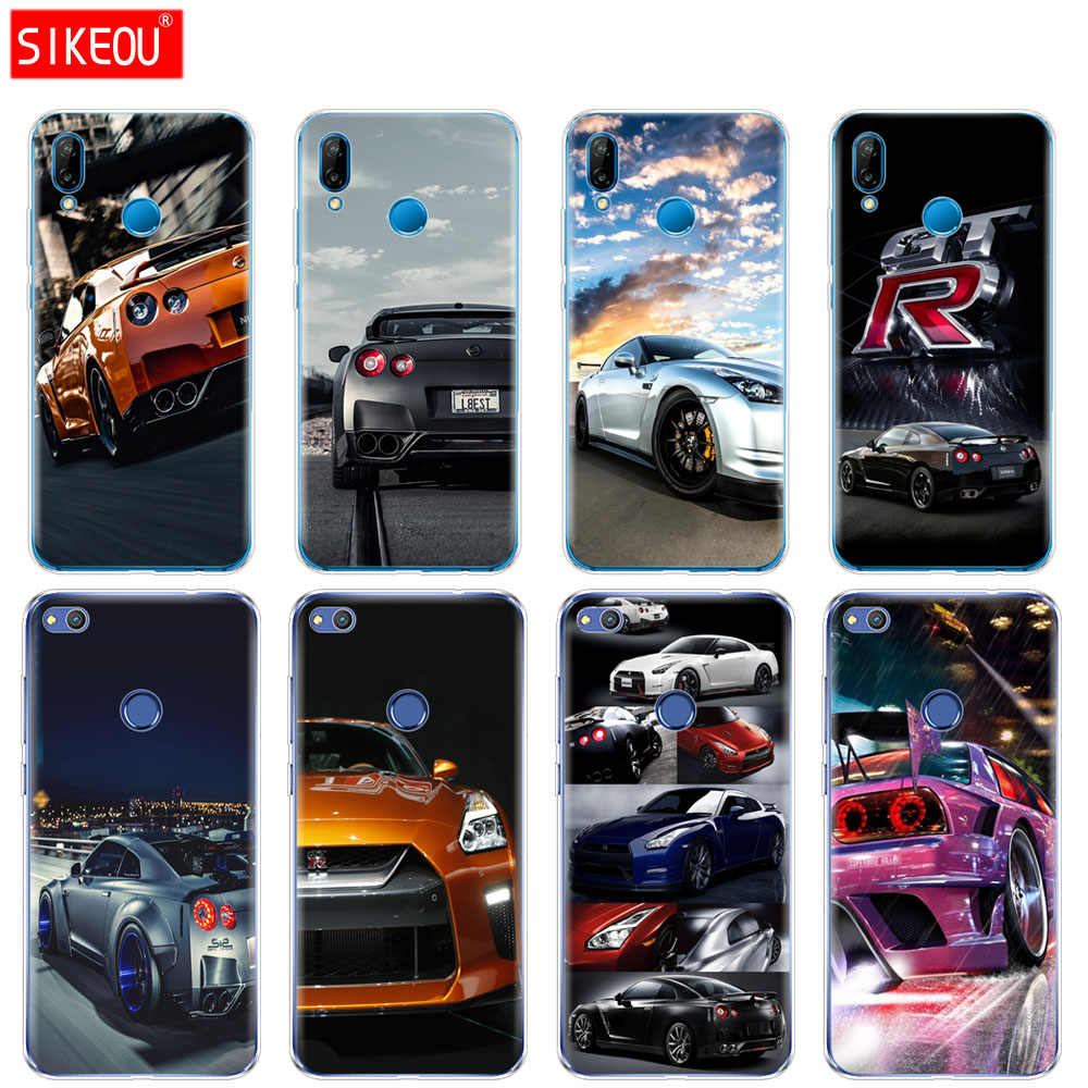 Silicone Cover Phone Case For Huawei P20 P7 P8 P9 P10 Lite Plus Pro 2017 P Smart 2018 GTR SPORT CAR print