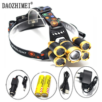 16000 Lumen Zoom Headlamp XML T6 4Q5 Head Lamp Powerful Led Headlight Head Torch 18650 Rechargeable