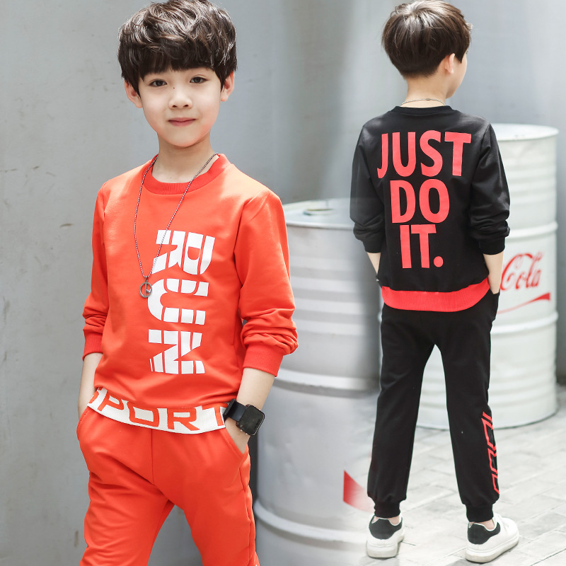 Children Tracksuit 2017 Autumn Boys Clothing Sets Cotton T-Shirt +  Pants 2 Pcs Sport Suit Boy Clothes Set Costumes