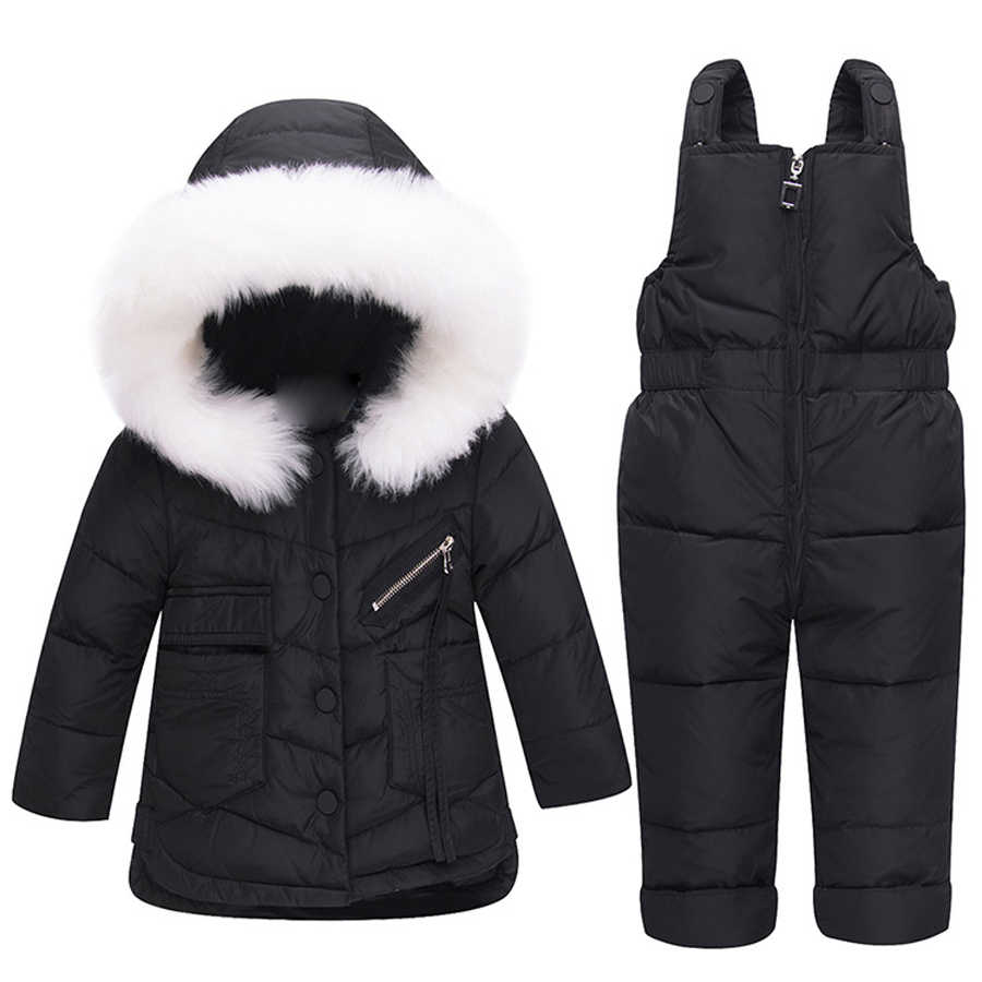 69c88382c IYEAL Baby Girl Winter Clothes Sets Hooded Kids Down Jacket Overalls  Jumpsuits Snow Wear Children Boys Clothing 1 2 3 Years