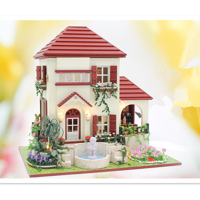 New Coming Handmade DIY Wooden Doll House Birthday Toys for Children/Friends, Miniature Dollhouse,The Love of Gesang the sandman vol 2 the doll s house new edition