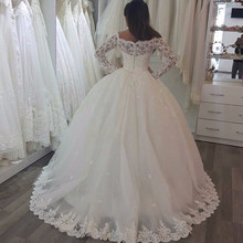Fnoexw Ball Gown Wedding dresses Long Sleeve Gowns