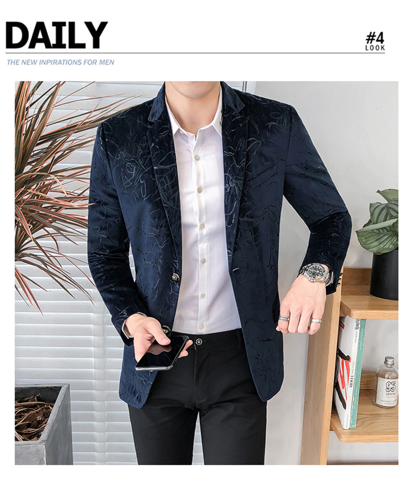 Blazer Masculino Slim Fit Casual Blazers Men Suits Wedding Blazer For Men (7)
